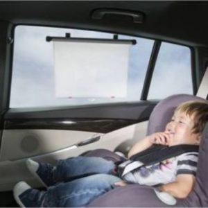 ISI Mini Zonnescherm voor auto met temperatuurwaarschuwing