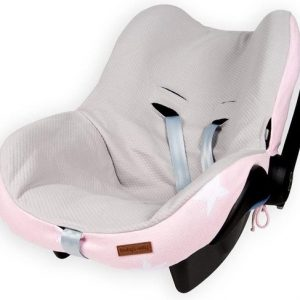 Baby's Only Autostoelhoes Ster roze wit