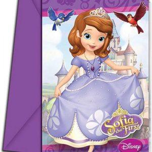 Disney Sofia Prinsesje uitnodigingskaarten