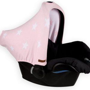 Baby's Only Autostoel kap Ster roze wit