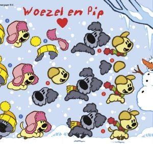 3d knipvel Woezel en Pip Winter